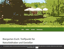 Tablet Preview of biergarten-esch.de